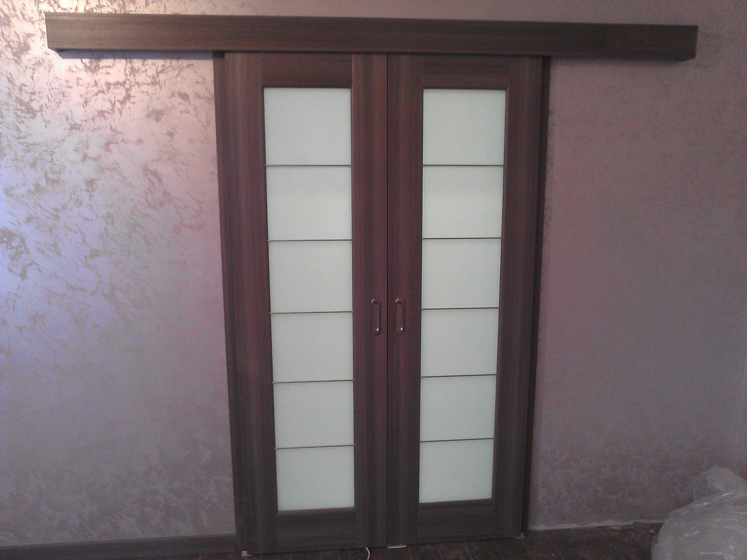 Как установить купейную дверь фото